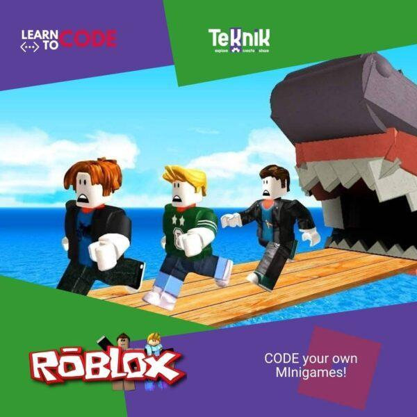 roblox chased by sharks