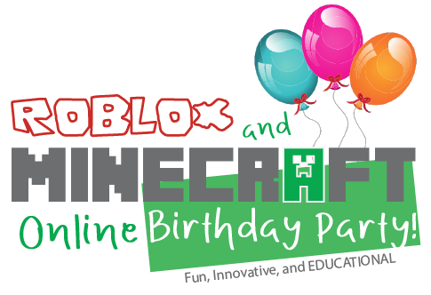 logo bday party minecraft and roblox